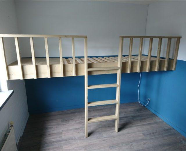 Slaapkamer jasper badoux - Op maat hoogslaper ...