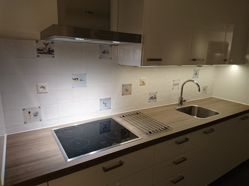 Hoogglans keuken delfts blauw