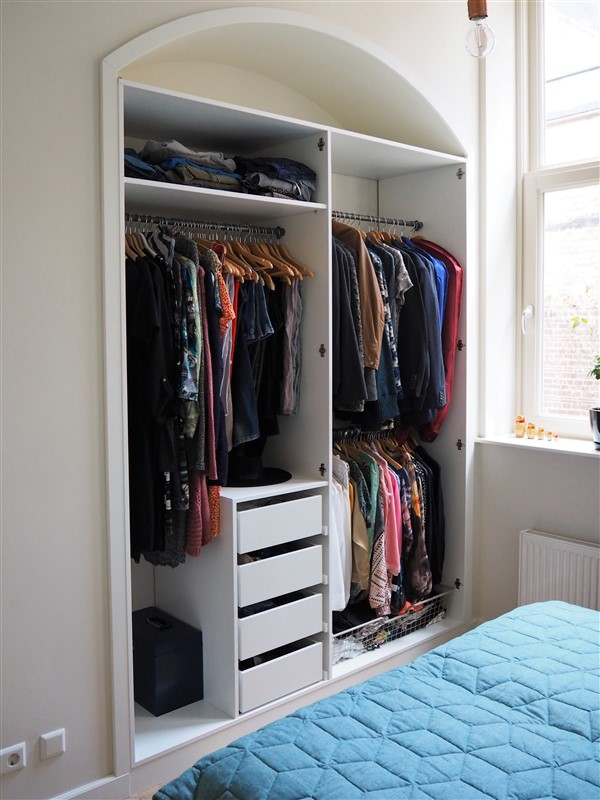 Garderobe in nis met boog