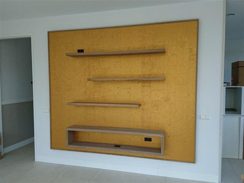 Gouden wandbord