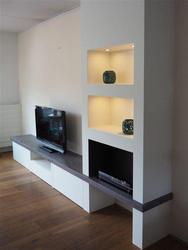 TV/ Haardmeubel beton ciré