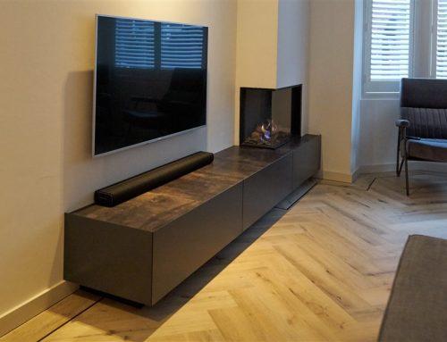 TV meubel met leer